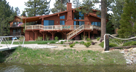 Big Bear House in summer