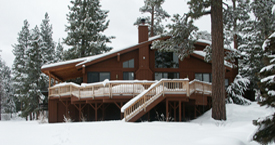 Big Bear House in Winter
